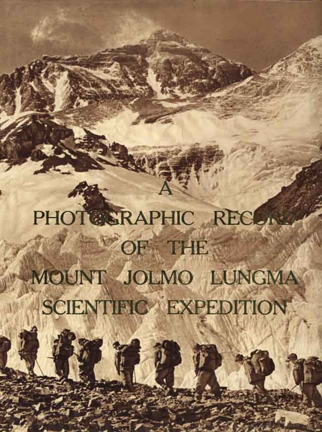 Copertina di PHOTOGRAPHIC RECORD OF THE MOUNT JOLMO LUNGMA SCIENTIFIC EXPEDITION A